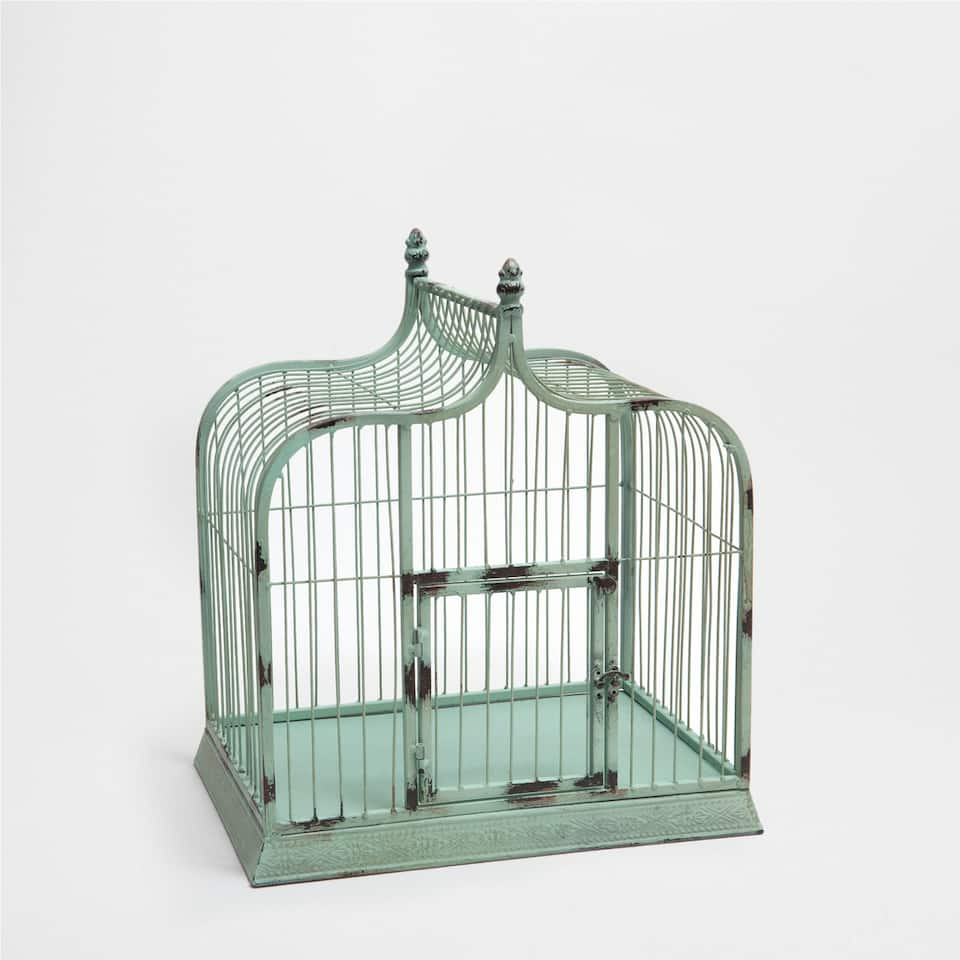 BLUE DECORATIVE CAGE