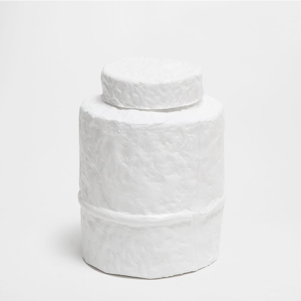 DECORATIVE WHITE JAR