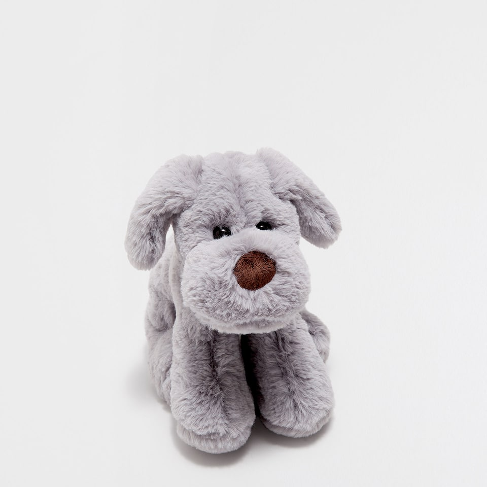 SEATED PUPPY SOFT TOY