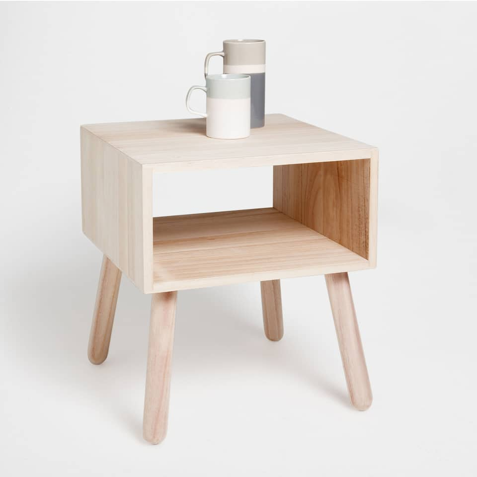 SIDE TABLE WITH A COMPARTMENT