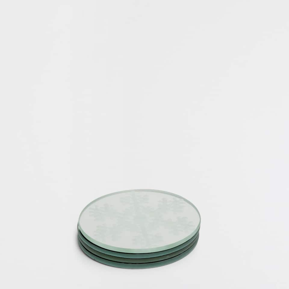 Round mirror-effect coasters (set of 4)