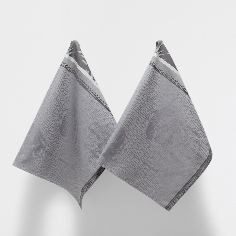 LANTERN-DESIGN TEA TOWEL (SET OF 2)