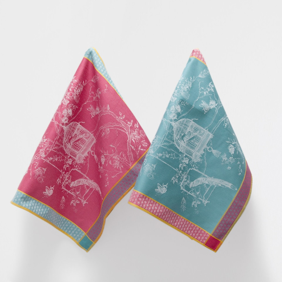 ORIENTAL-DESIGN TEA TOWEL (SET OF 2)