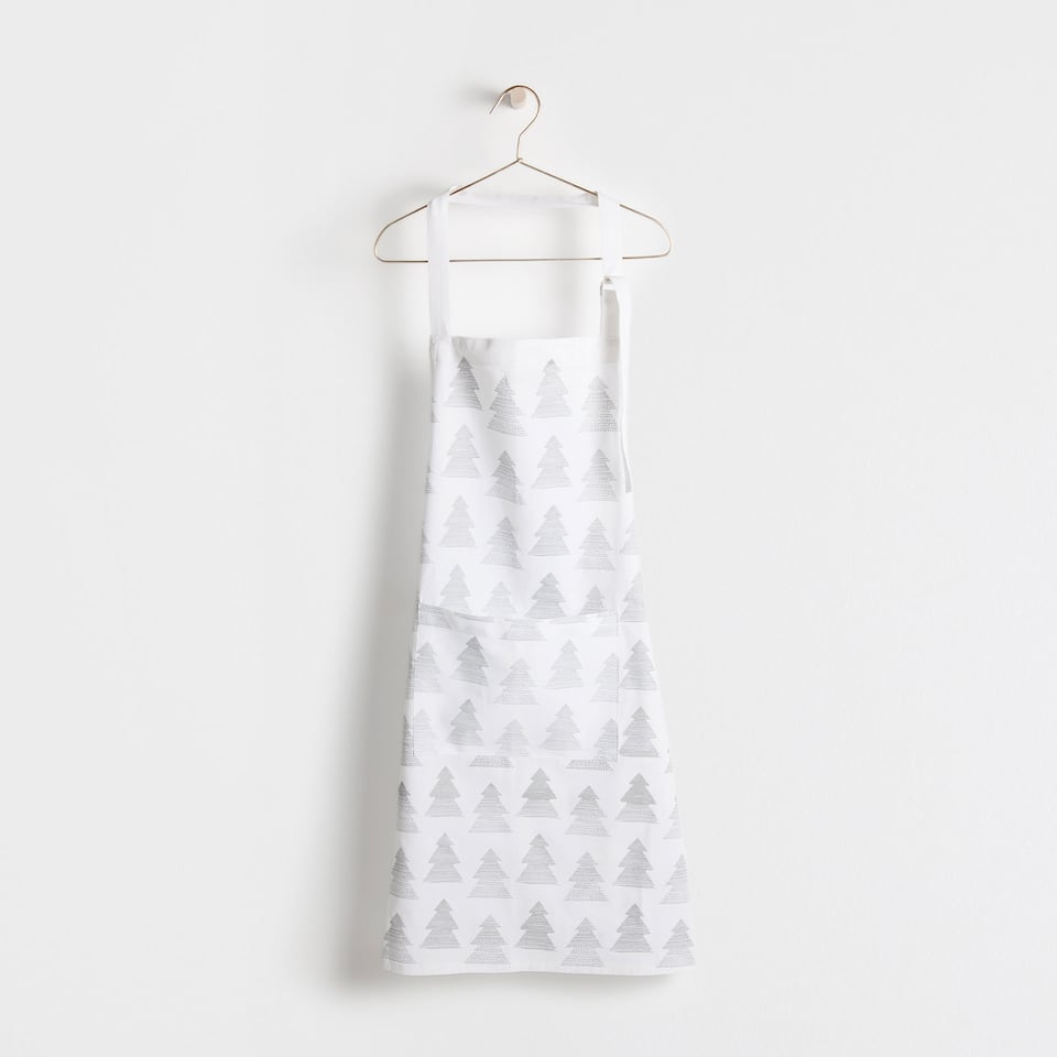 Silver fir tree print apron