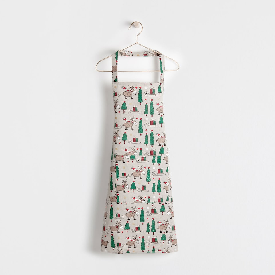Multicoloured design apron