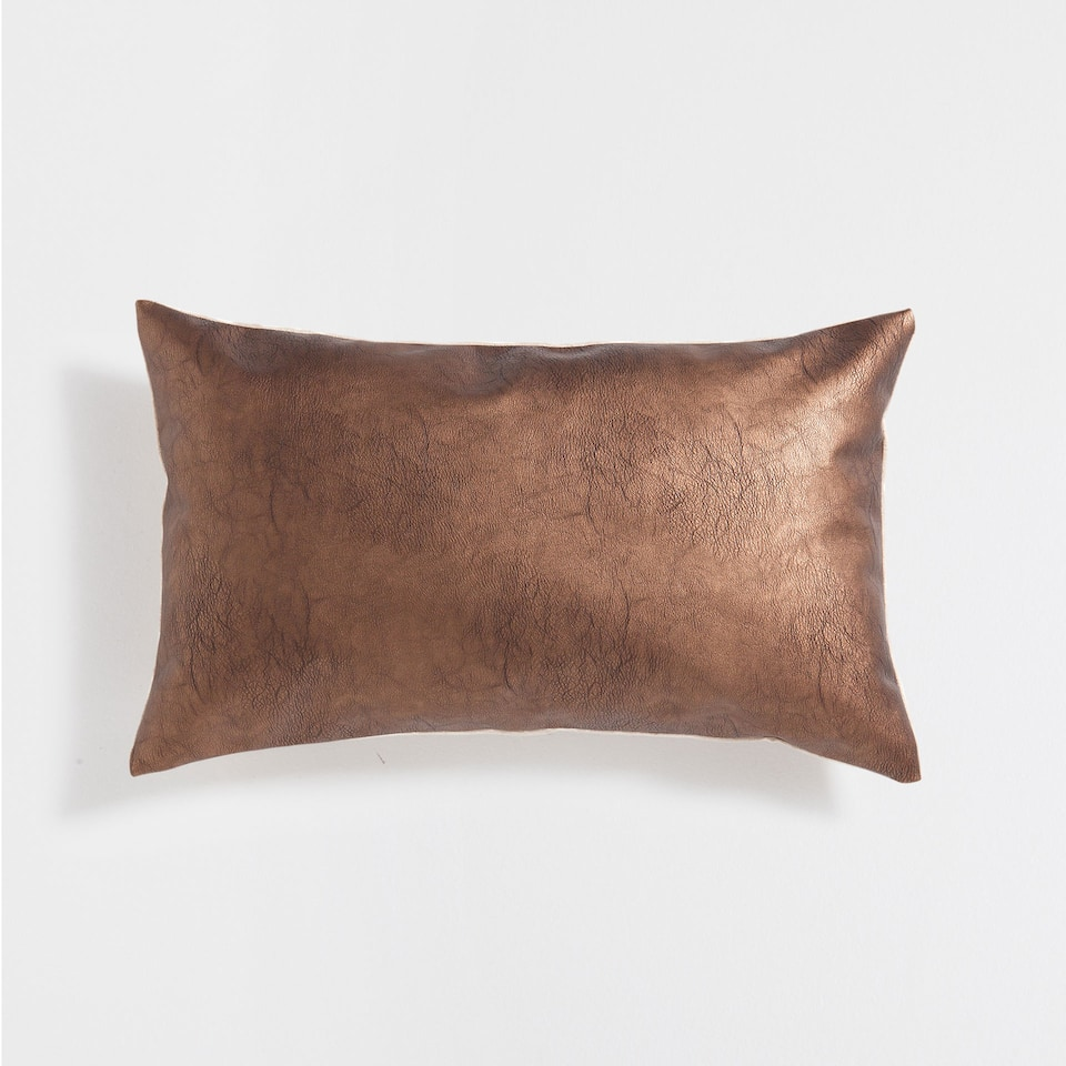 COPPER-COLOURED CUSHION COVER