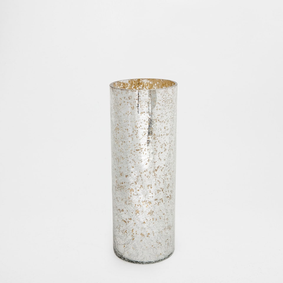 MERCERISED CYLINDRICAL VASE