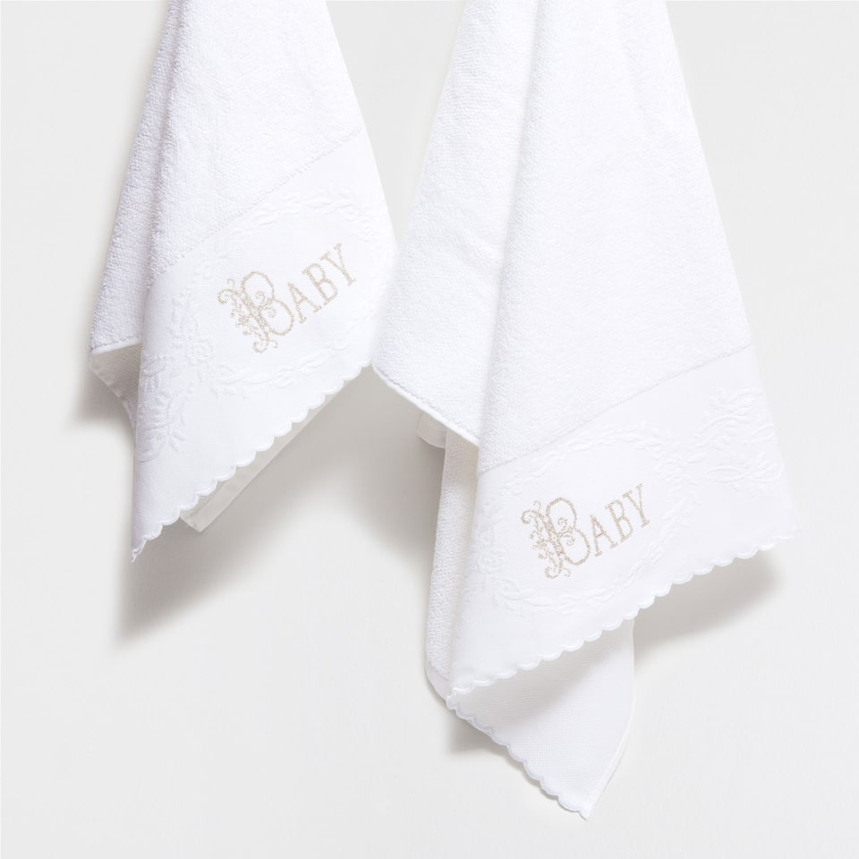 Baby embroidered cotton towel