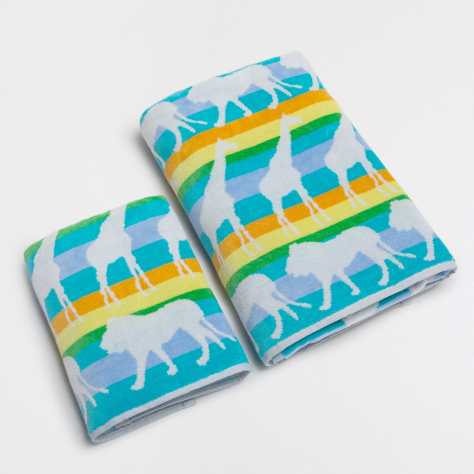 Animals cotton towel