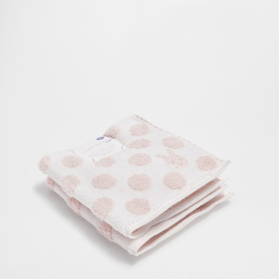 Dotted cotton towel (Set of 2)