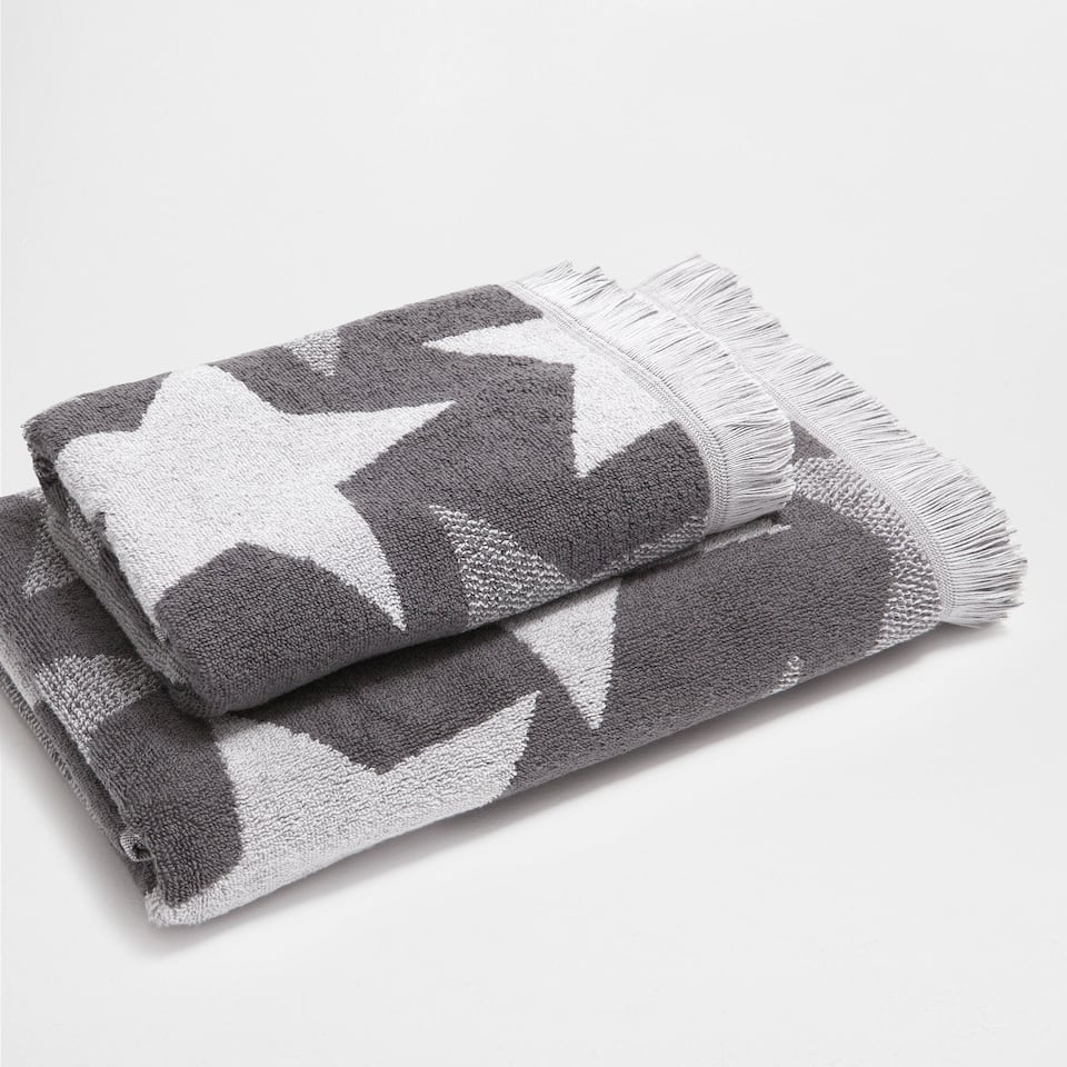 Contrasting stars cotton towel