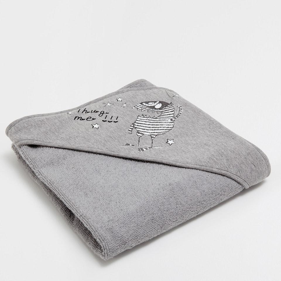 Monsters-print towel