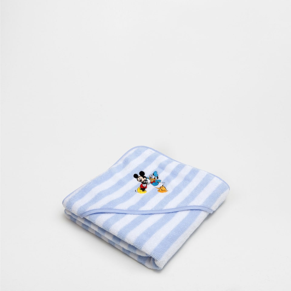Mickey & Donald embroidered towel