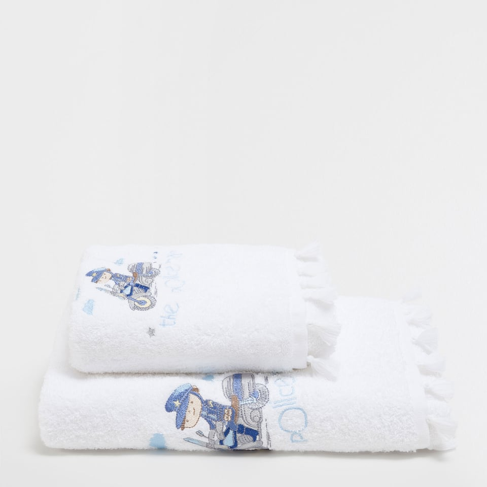 Police embroidered cotton towel