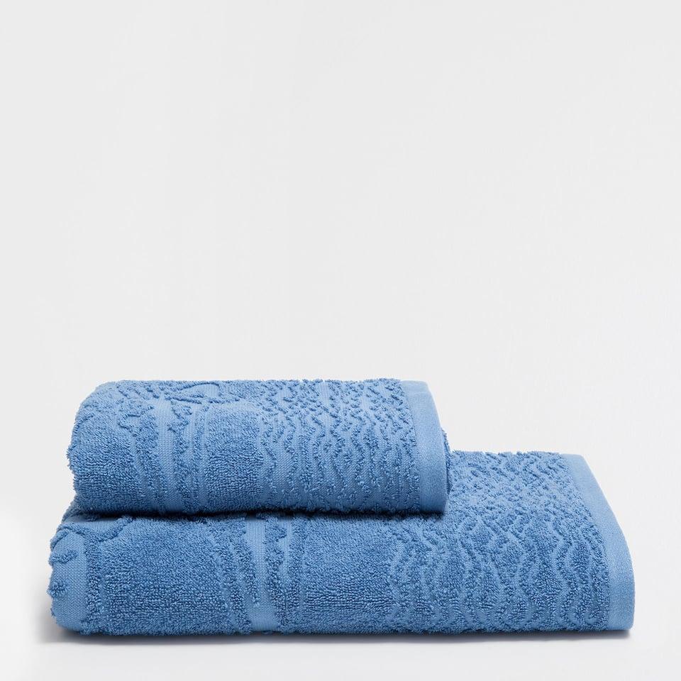 Crocodiles jacquard cotton towel