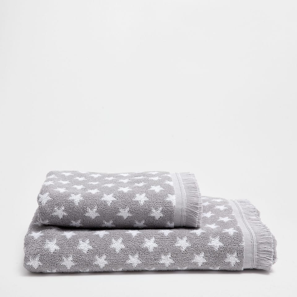 Stars printed cotton towel