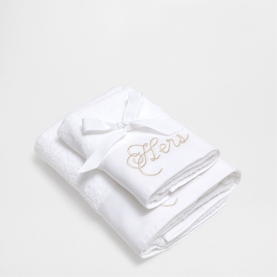 EMBROIDERED LINEN TOWEL (SET OF 2)