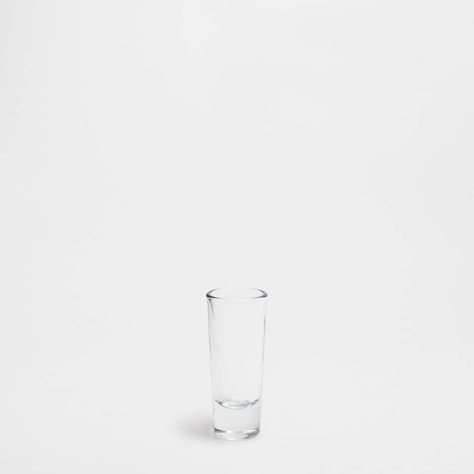 Thin glass shot glass