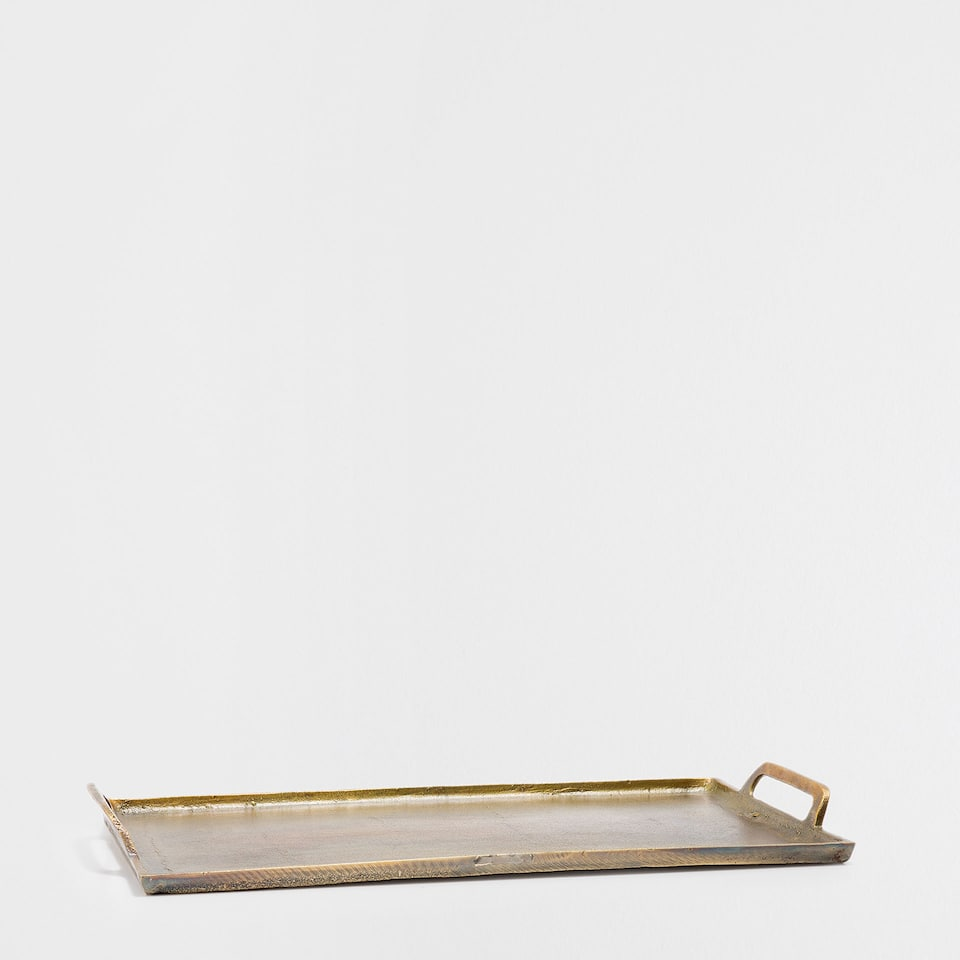 COPPER-COLOURED ALUMINIUM TRAY
