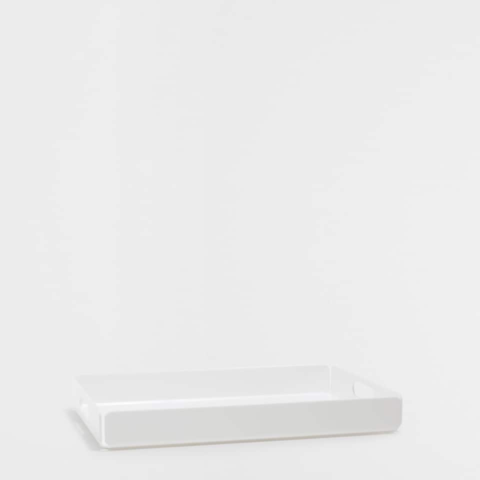 WHITE ACRYLIC RECTANGULAR TRAY