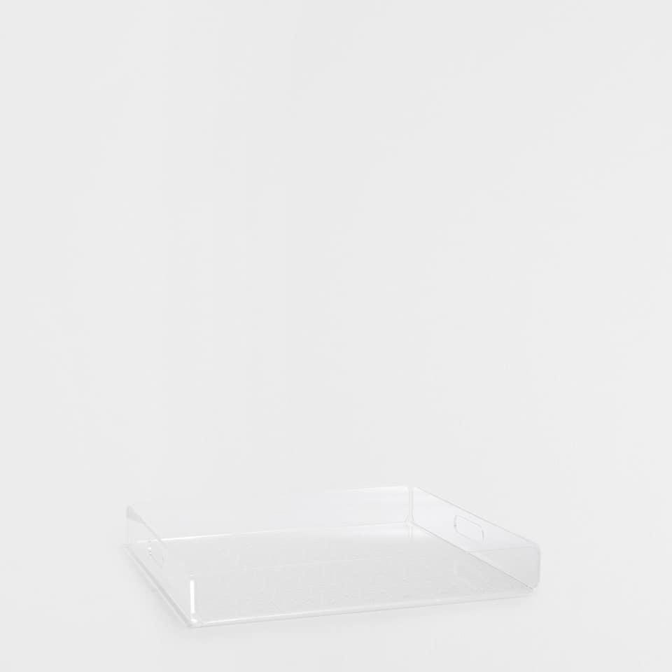 METHACRYLATE SQUARE TRAY WITH A PATTERN