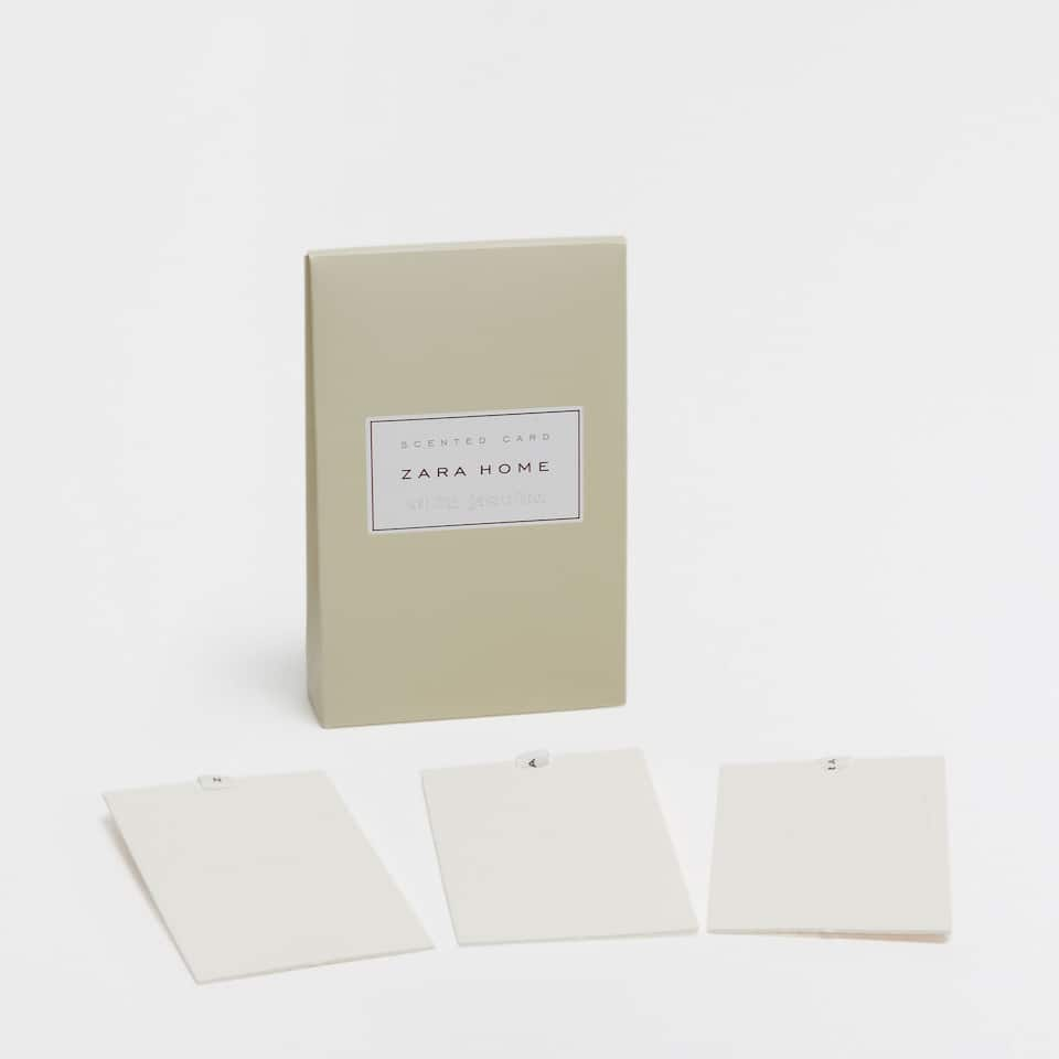 White Jasmine Scented Card (Set of 3)