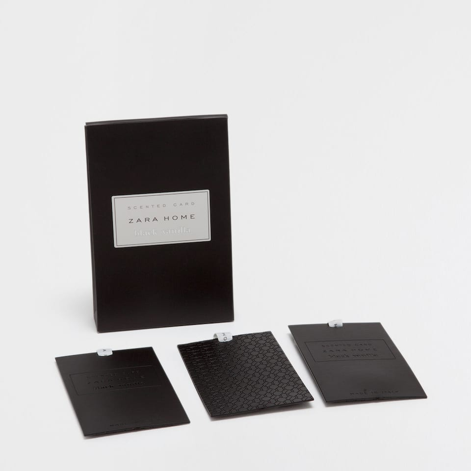 Black Vanilla Scented Card (Set of 3)