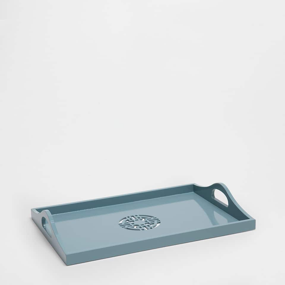 CYAN RECTANGULAR TRAY