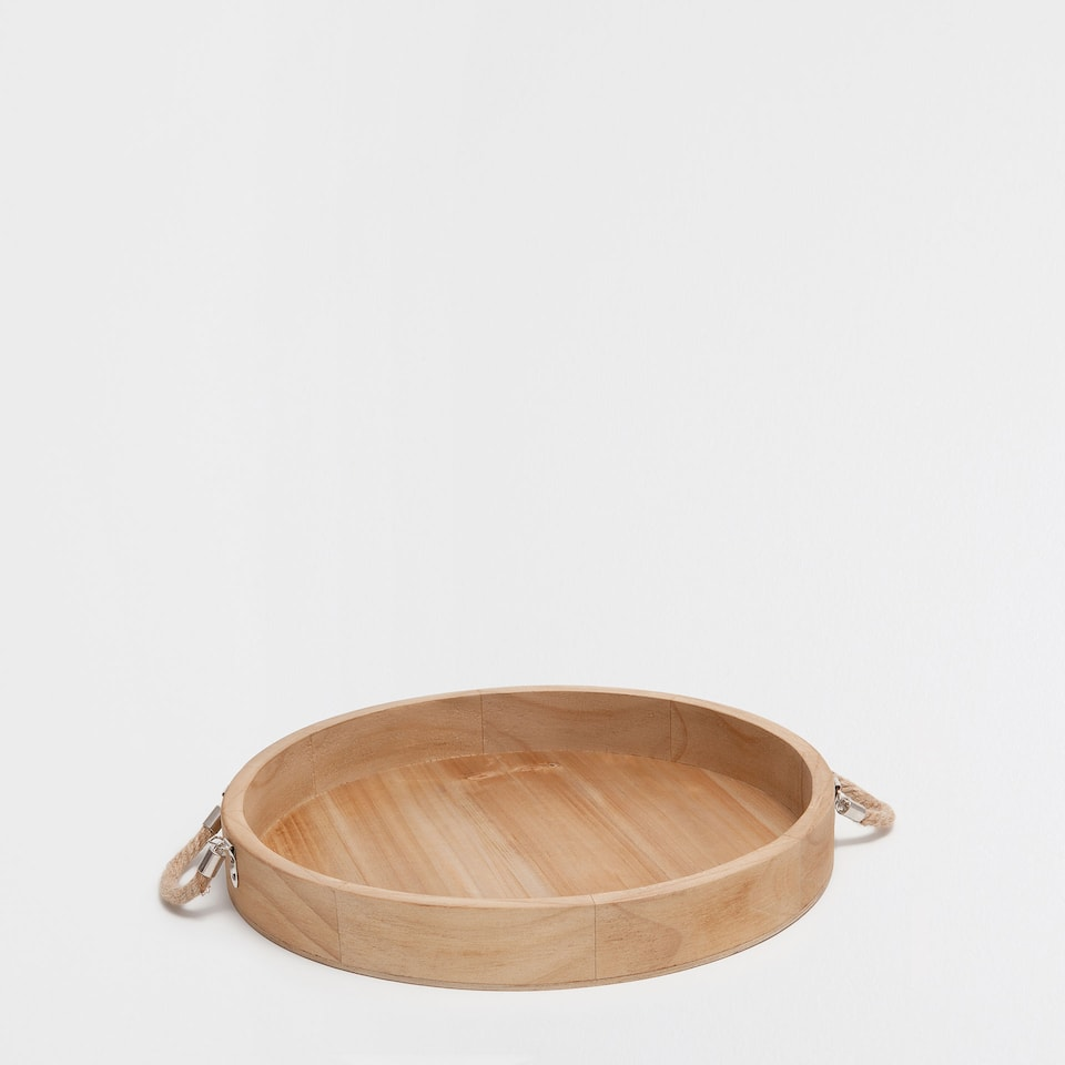 NATURAL-COLOURED ROUND TRAY