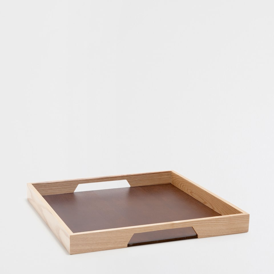 NATURAL-COLOURED square TRAY