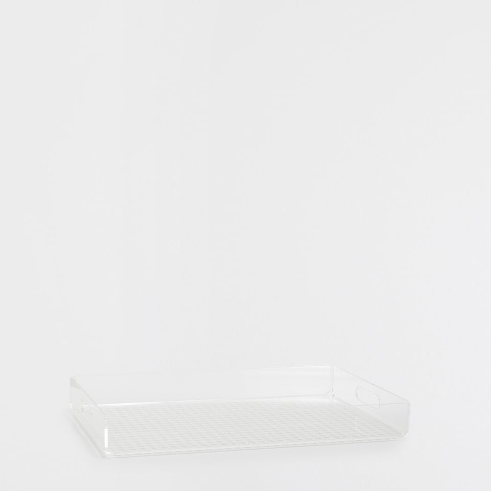 TRANSPARENT ACRYLIC TRAY