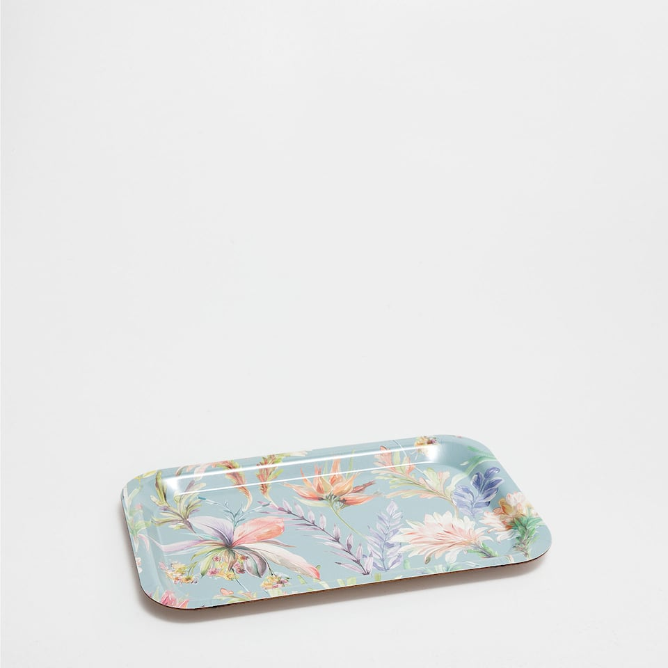 SMALL FLORAL-PRINT TRAY