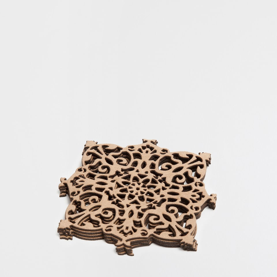 GEOMETRIC OPENWORK COASTERS (SET OF 4)
