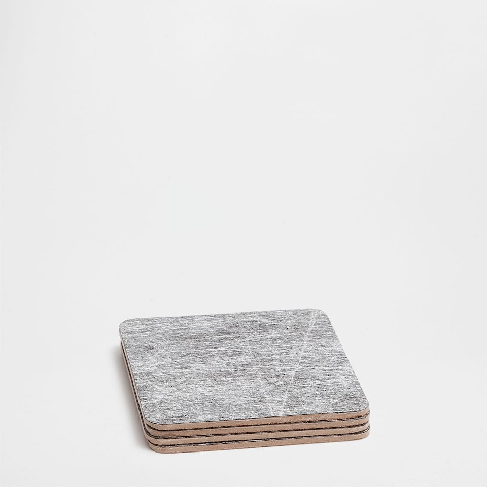 WORN GREY COASTERS (SET OF 4)