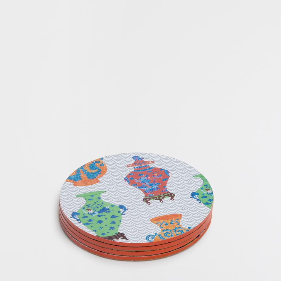 VASES-PRINT COASTERS (SET OF 4)