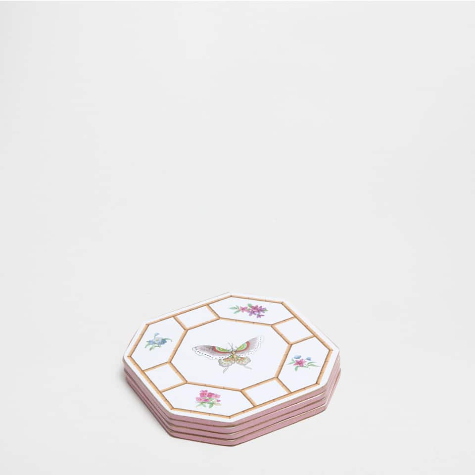 CAGE-PRINT COASTERS (SET OF 4)