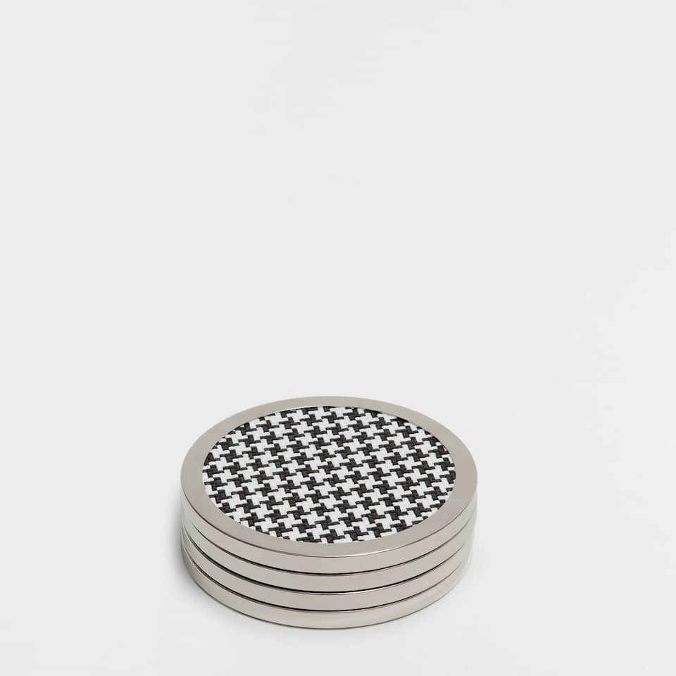 METAL-EDGE COASTERS (SET OF 4)