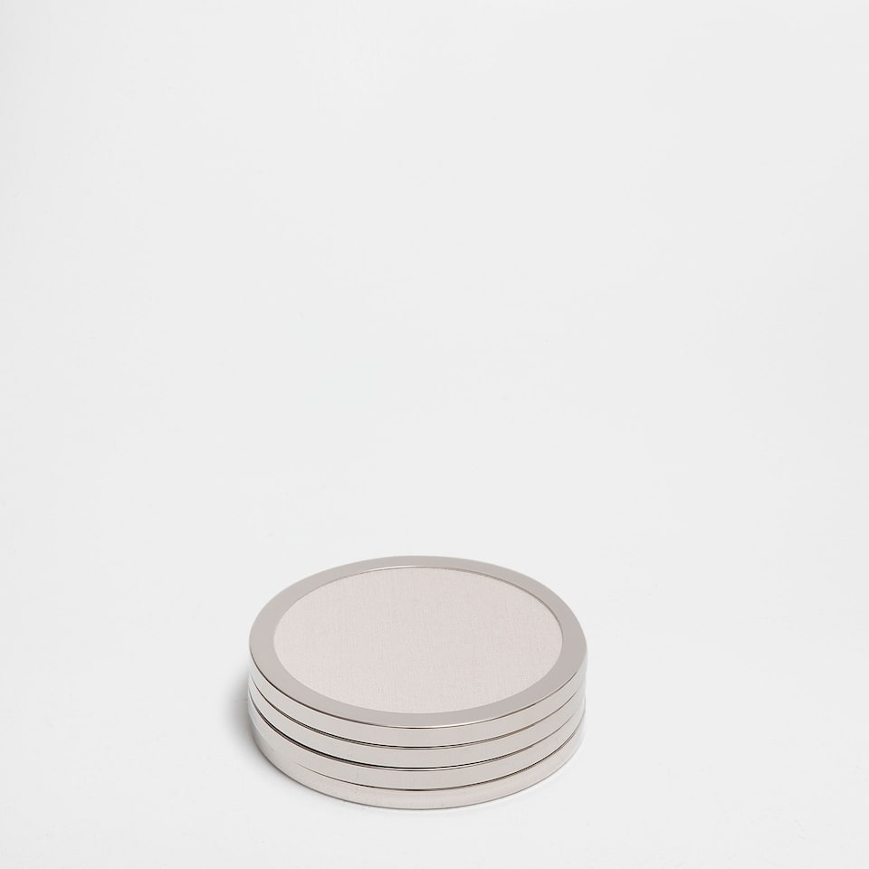 METAL-EDGE ROUND COASTERS (SET OF 4)