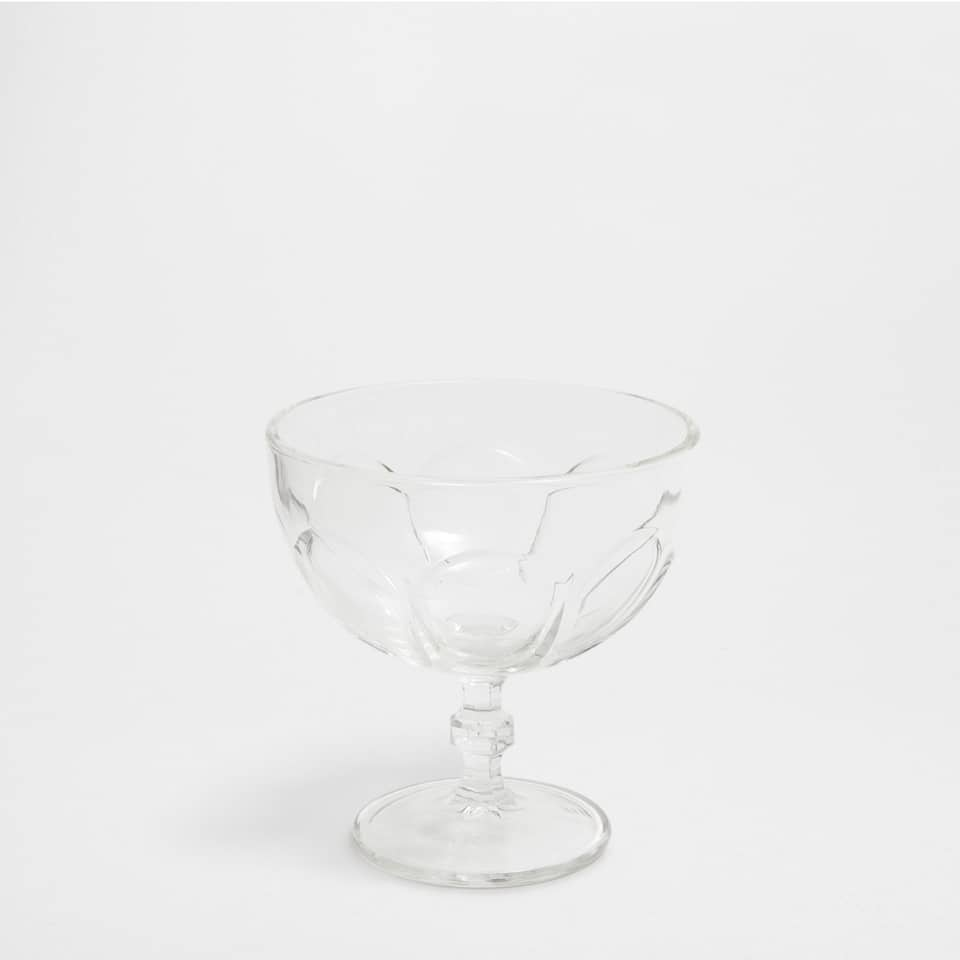 Transparent glass ice-cream cup