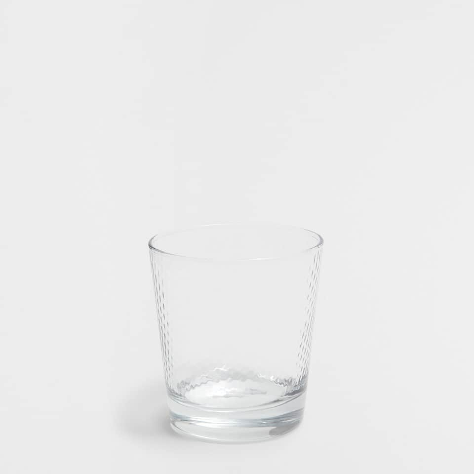 Optical Honeycomb Water Glass (Set of 3)