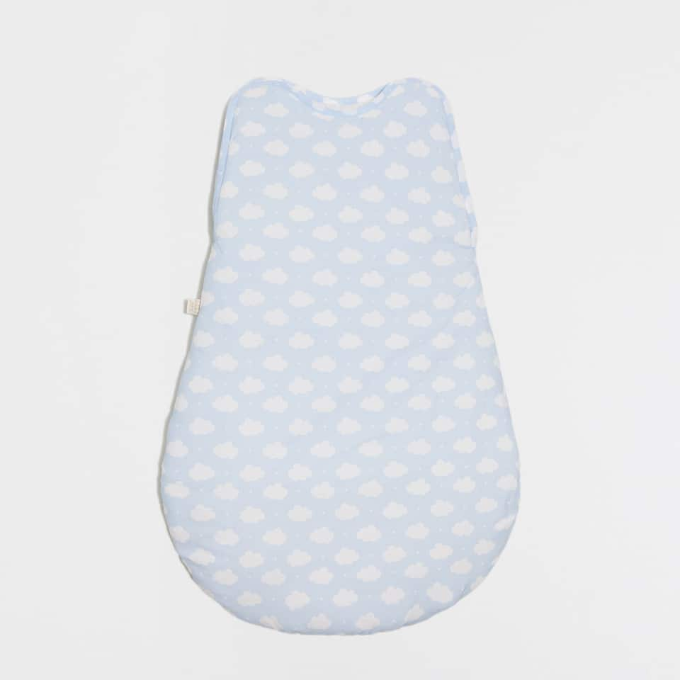 CLOUD PRINT PERCALE COTTON SLEEPING BAG