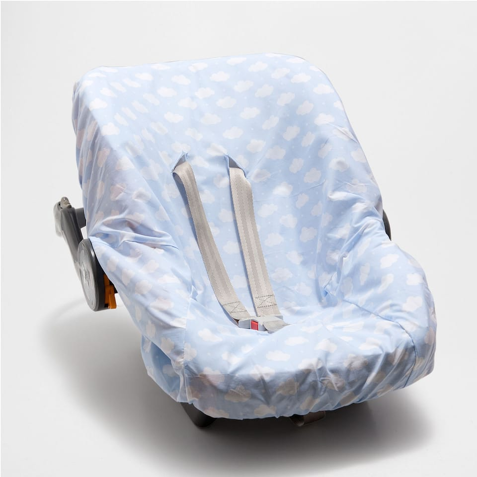 CLOUD PRINT PERCALE COTTON BABY CARRIER COVER