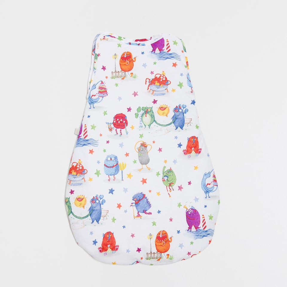 MONSTER PRINT COTTON SLEEPING BAG