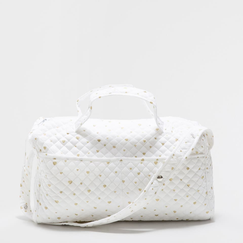 GOLDEN PRINT PERCALE COTTON MATERNITY BAG