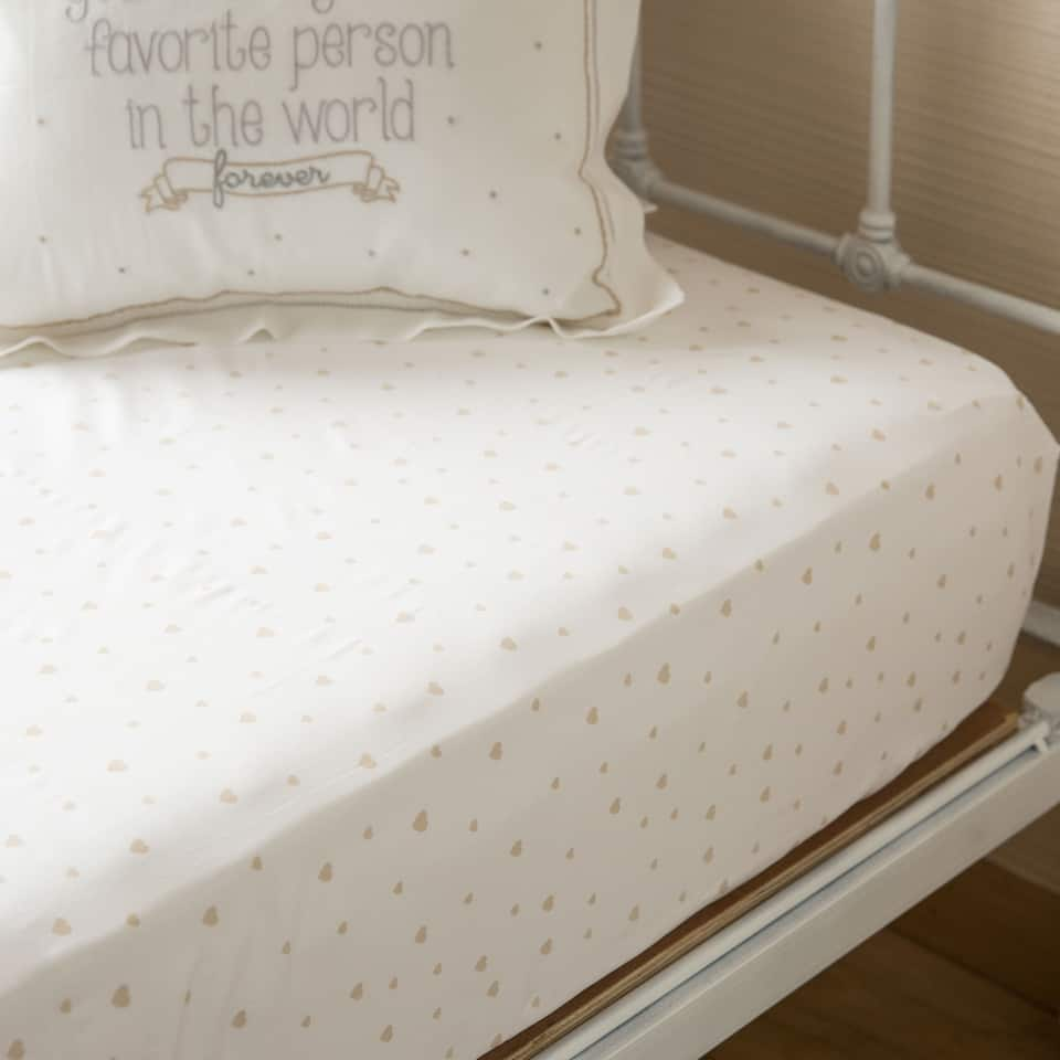 Gold Print Percale Bottom Sheet