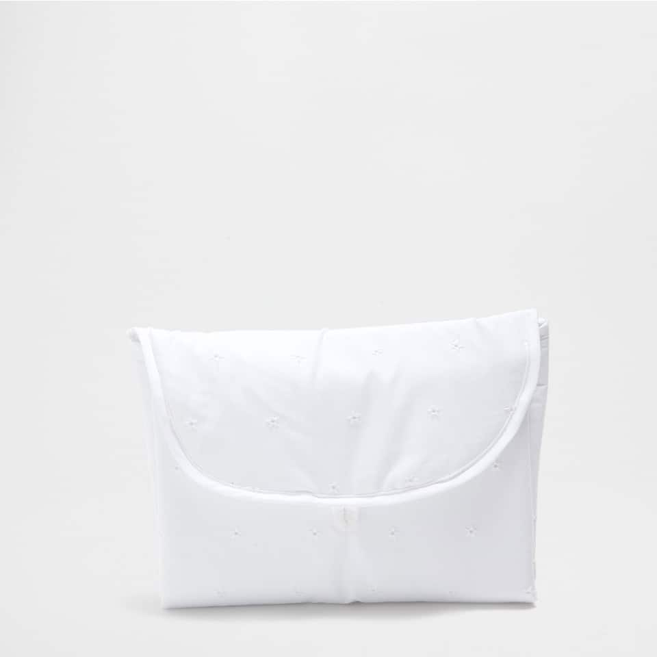 EMBROIDERED PERCALE COTTON CHANGING MAT