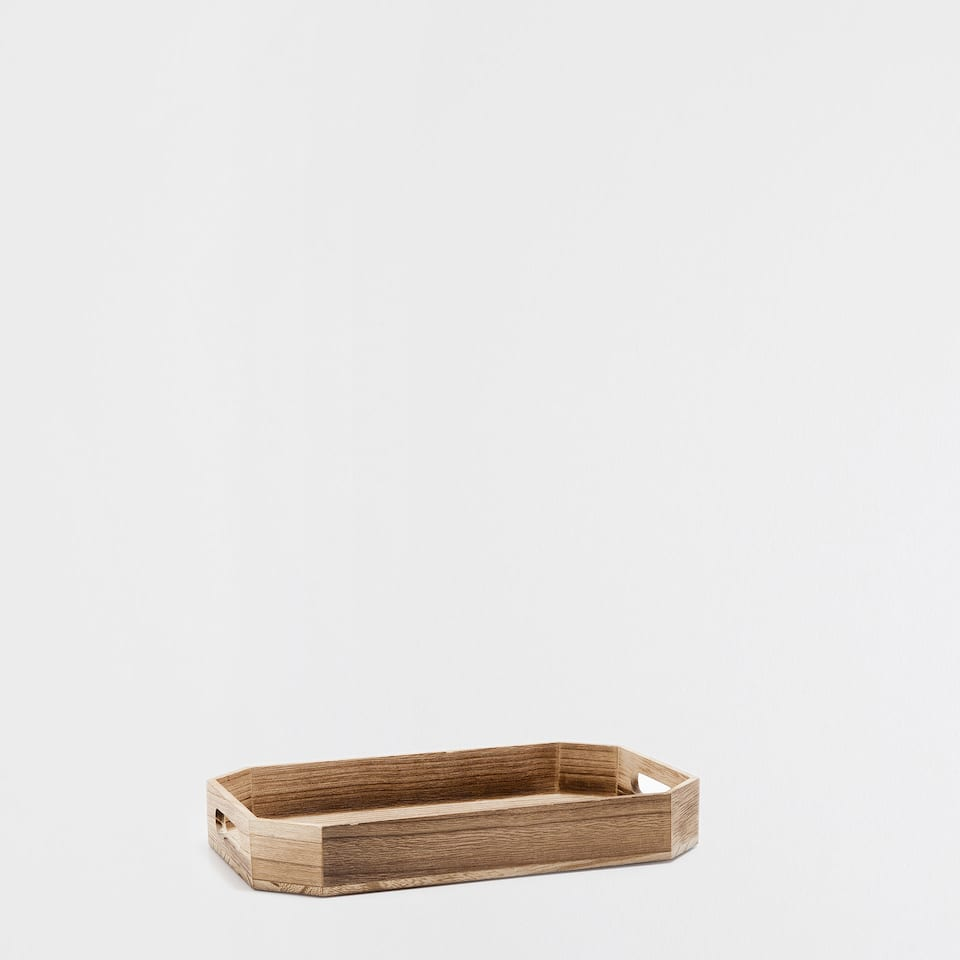 NATURAL-COLOURED RECTANGULAR TRAY
