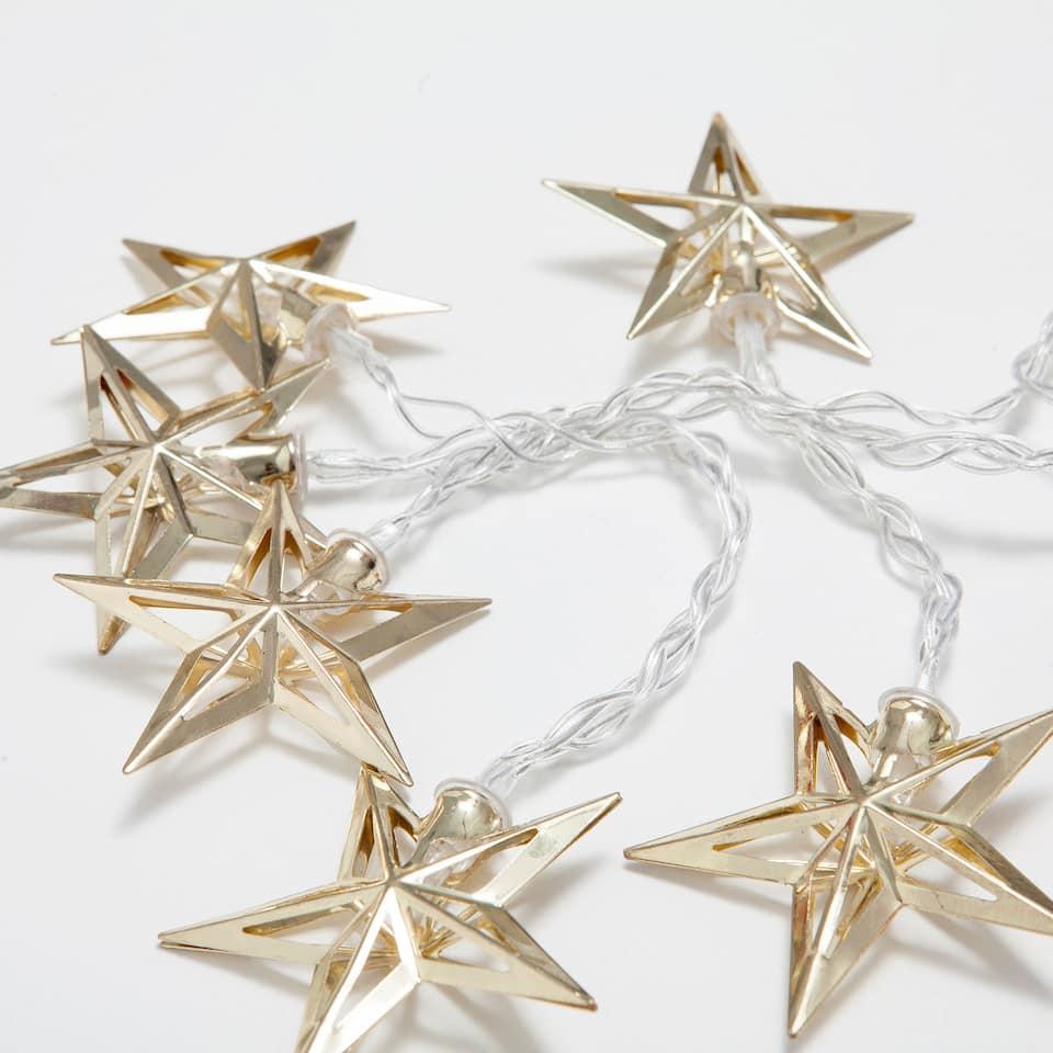 Lichtslinger met goudkleurige sterren
