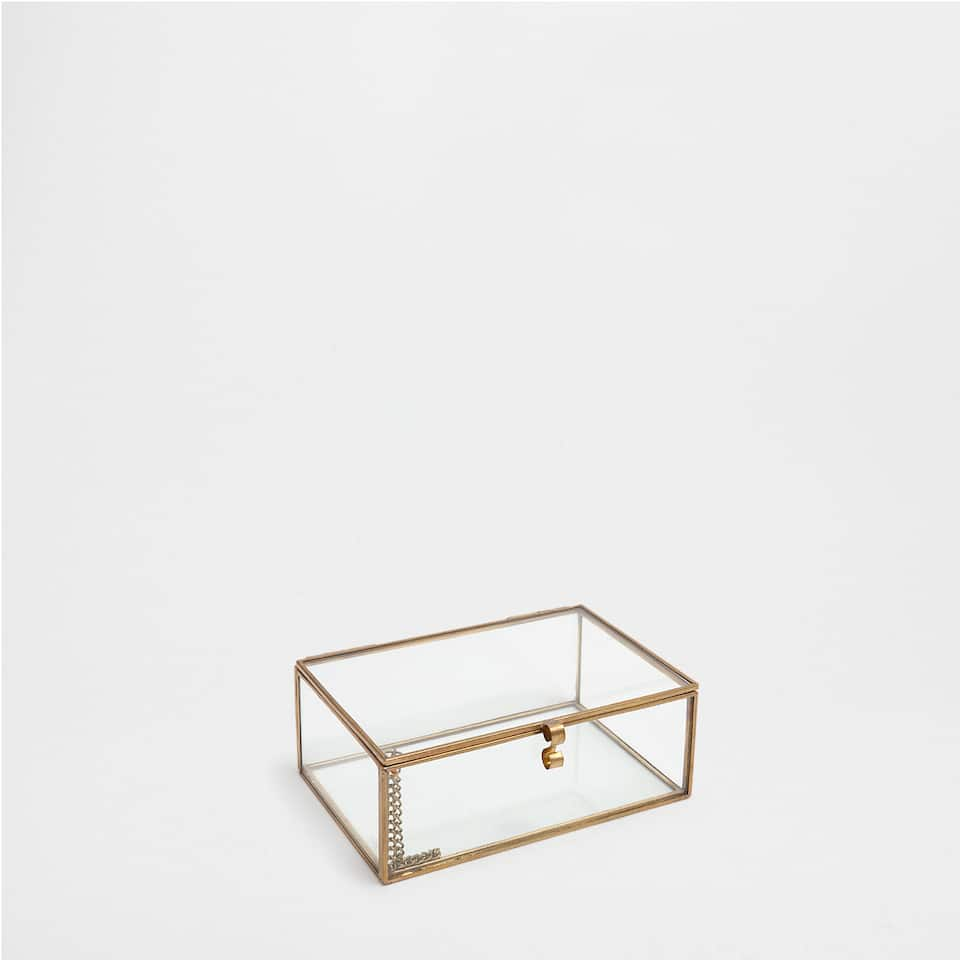 Glass and metal box