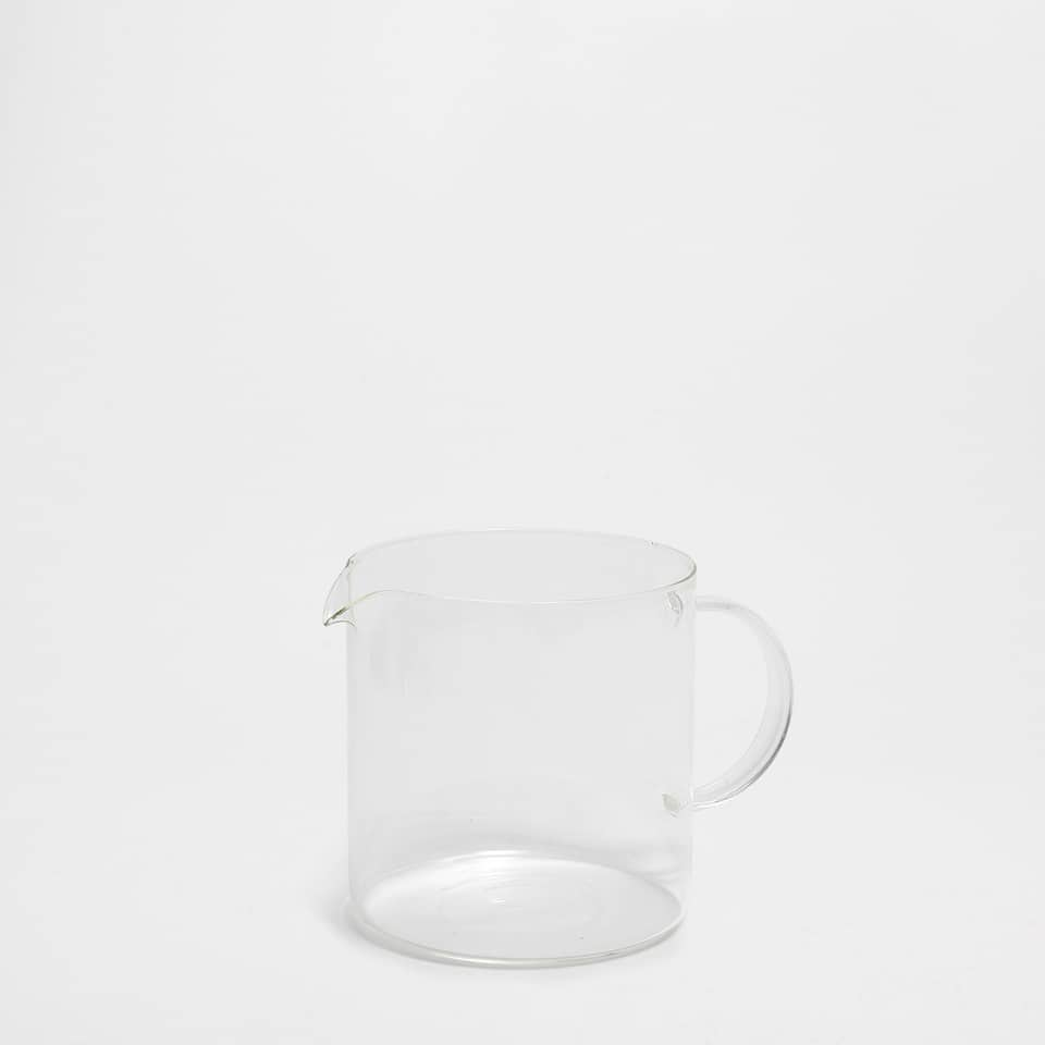 Transparent borosilicate glass milk jug